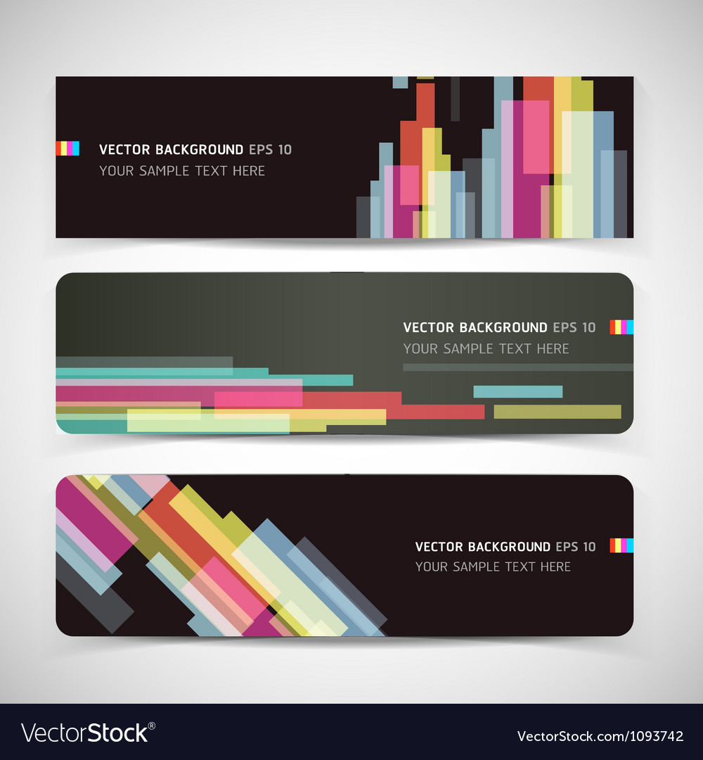 Banner abstract color background