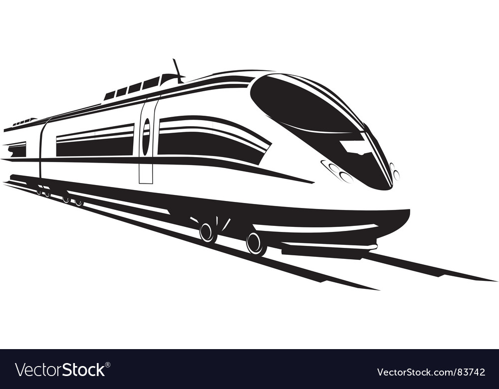 Fast train vector image