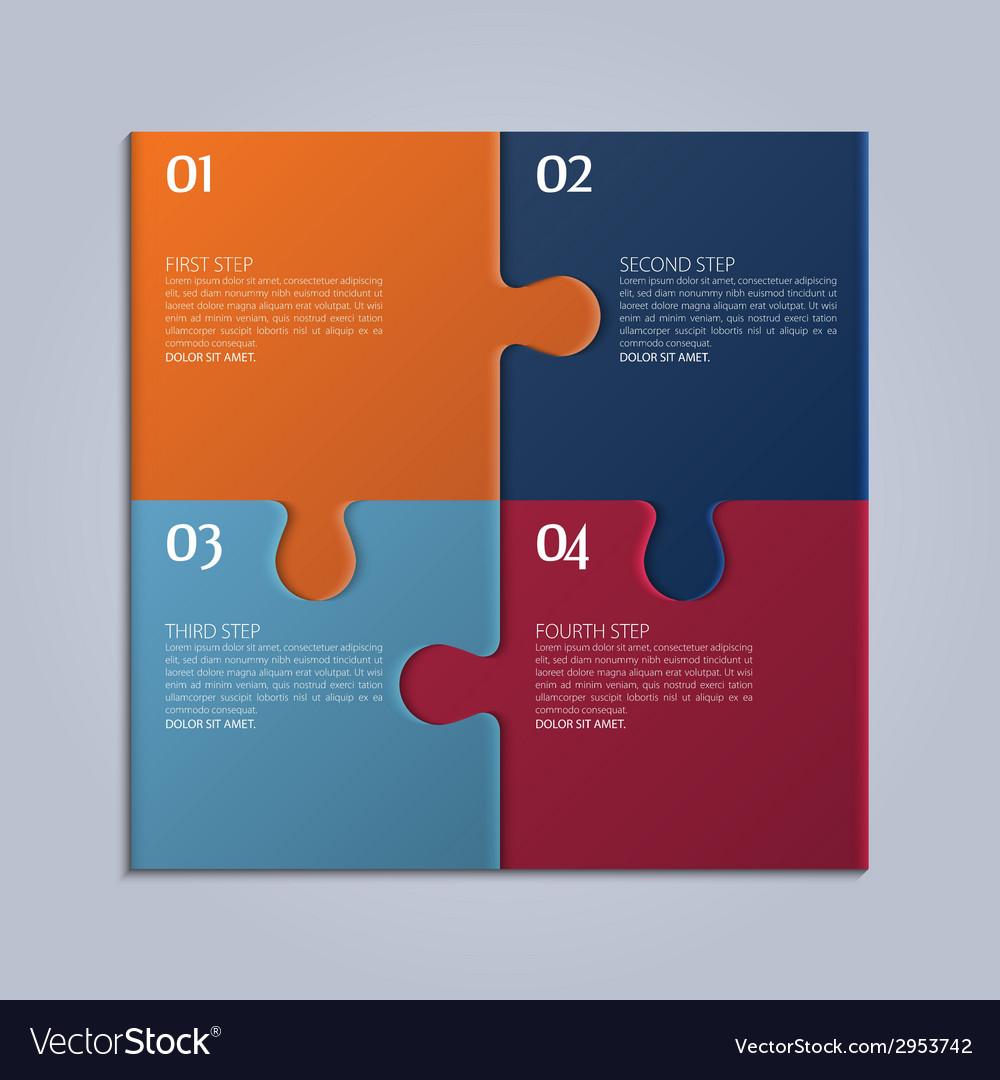 Four parts of puzzle