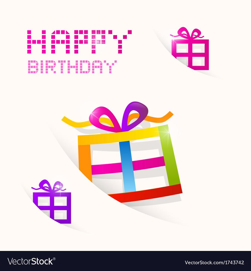 Happy Birthday theme vector image