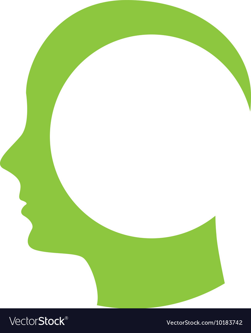 Human figure silhouette green icon
