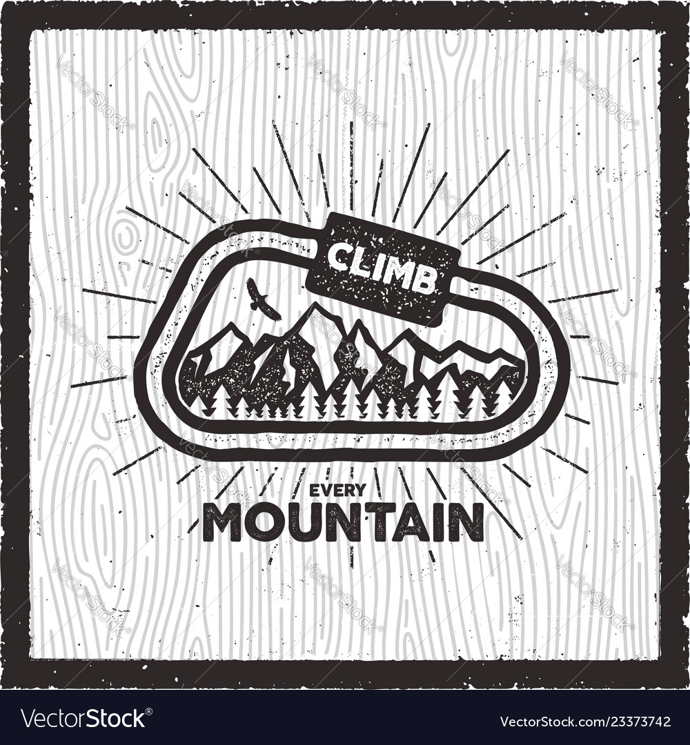 Vintage adventure card climb every mountain quote