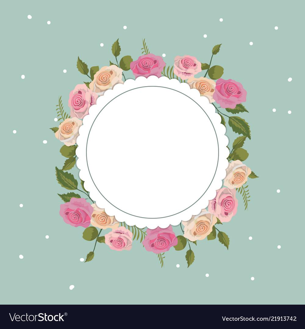Vintage Floral Frame Royalty Free Vector Image