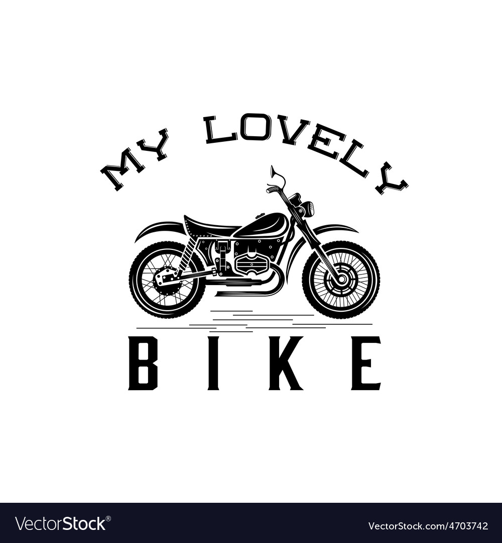 vintage motorcycle graphic design template vector image