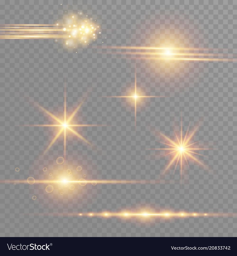 White glowing light burst explosion on transparent
