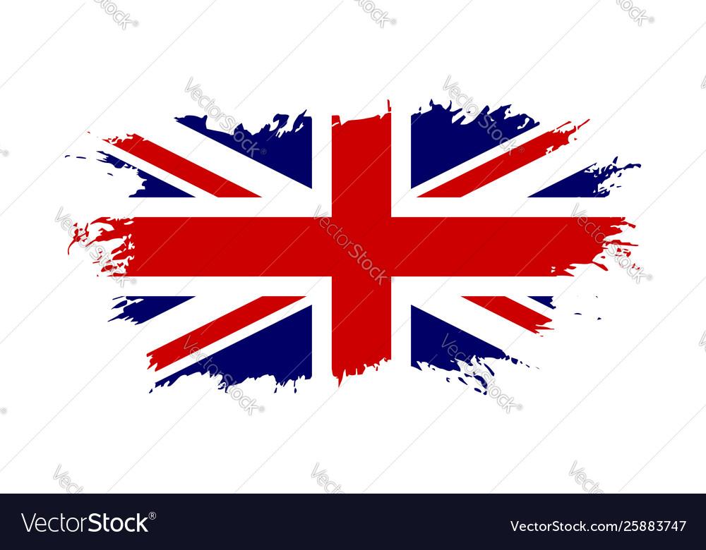 Great britain flag jack uk grunge flag isolated