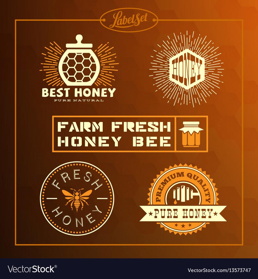 Honey bee label set