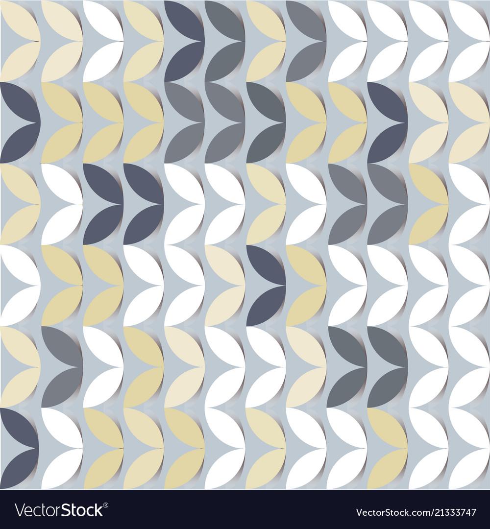 Retro giometric seamless circles grey paper