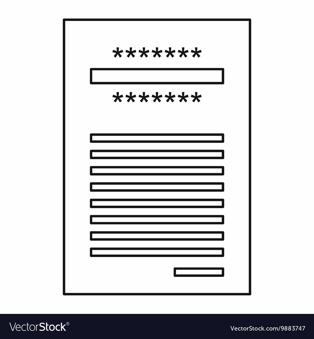 sales printed receipt icon outline style vector image