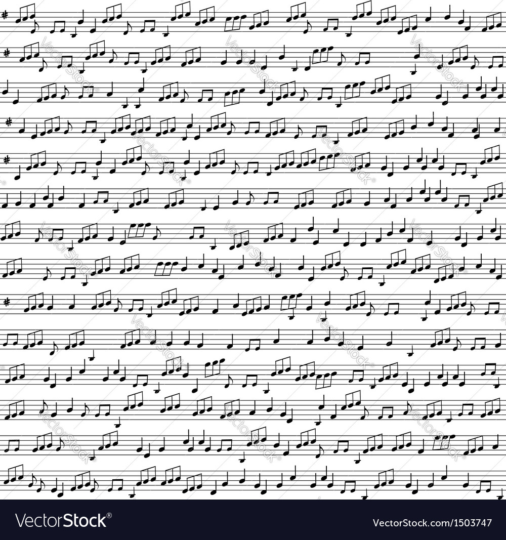 Seamless background with music notes vector image