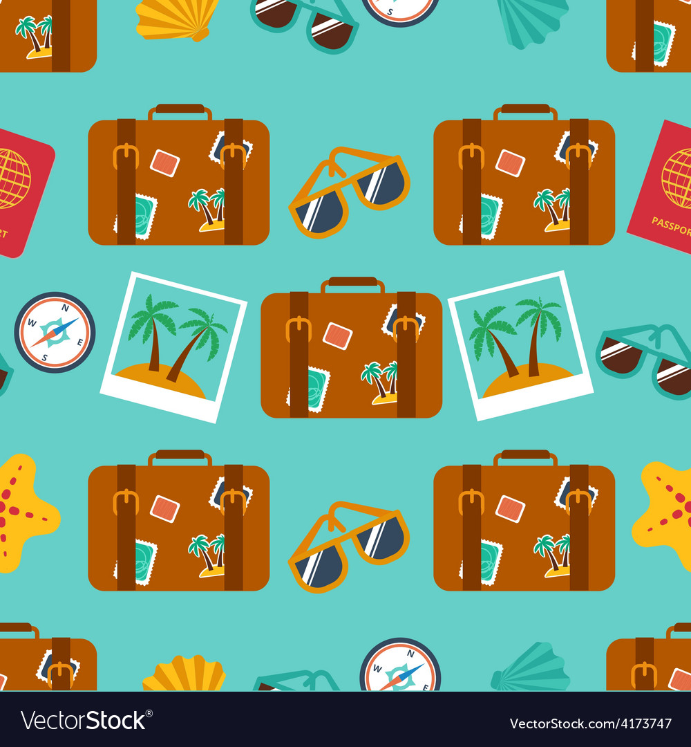 Seamless backgrounds of travel summer