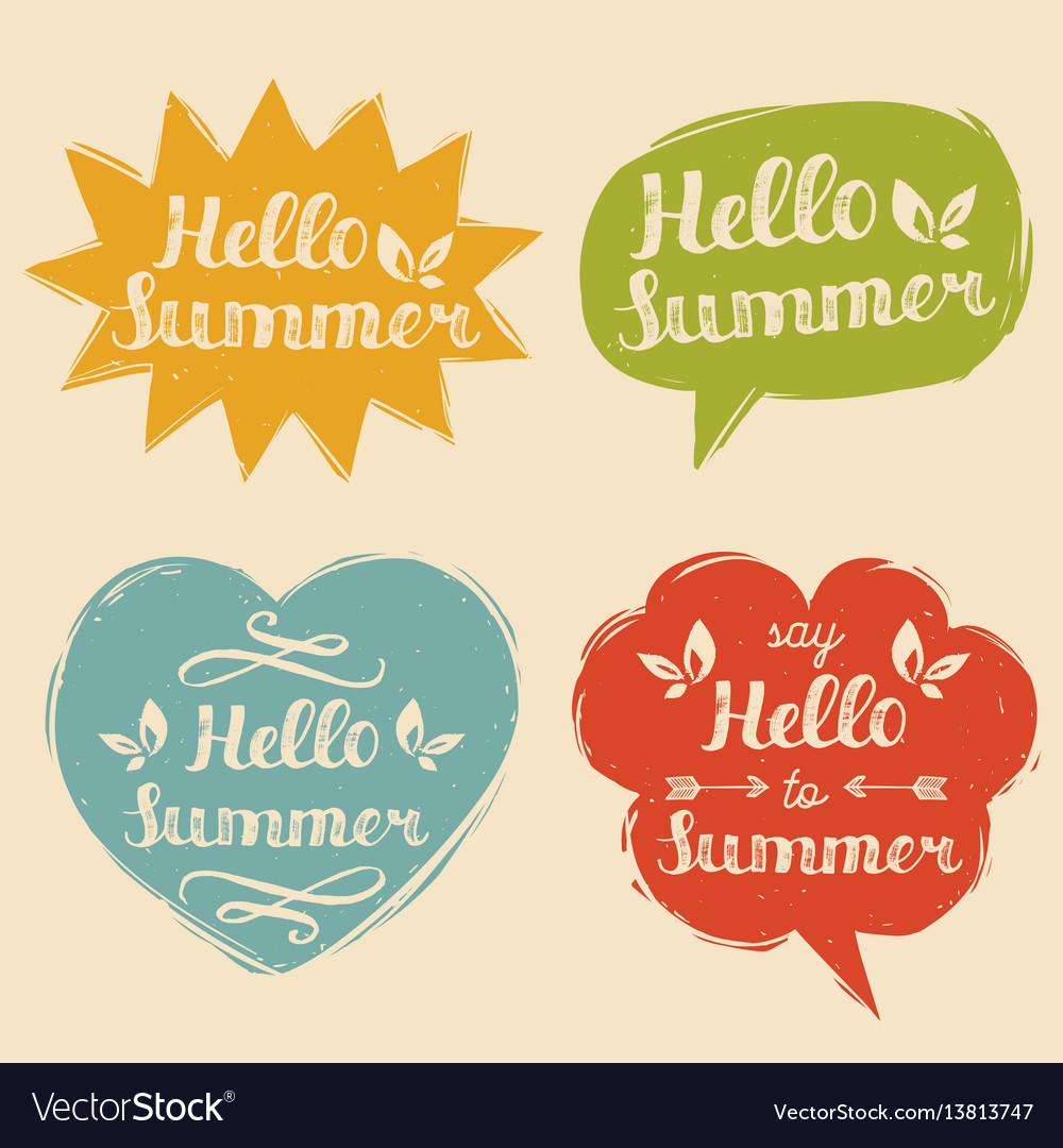 Set say hello to summer in