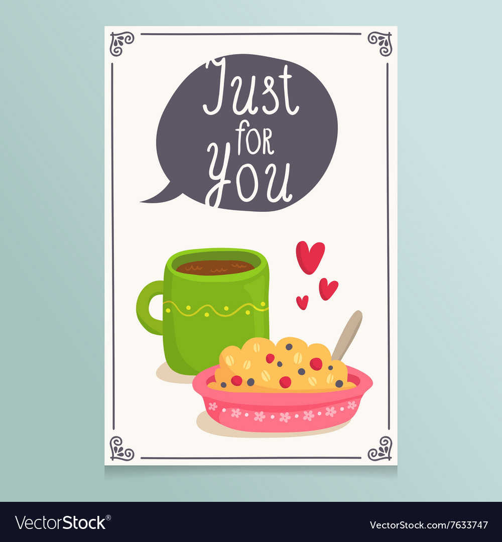 Valentines Day greeting card design with romantic