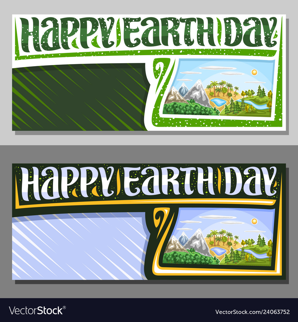 Banners for earth day
