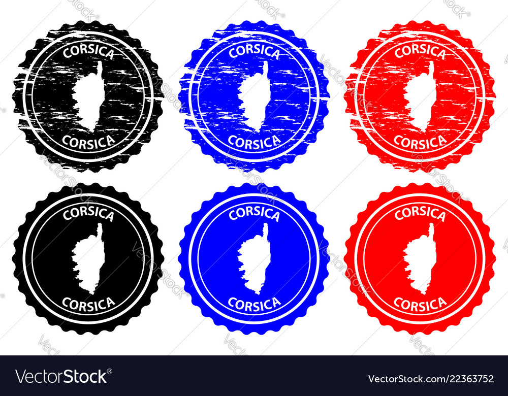 Corsica rubber stamp vector image on VectorStock