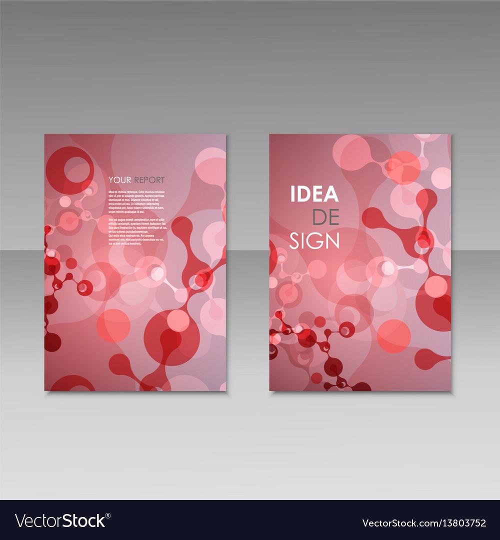 Geometric abstract modern colorful brochure