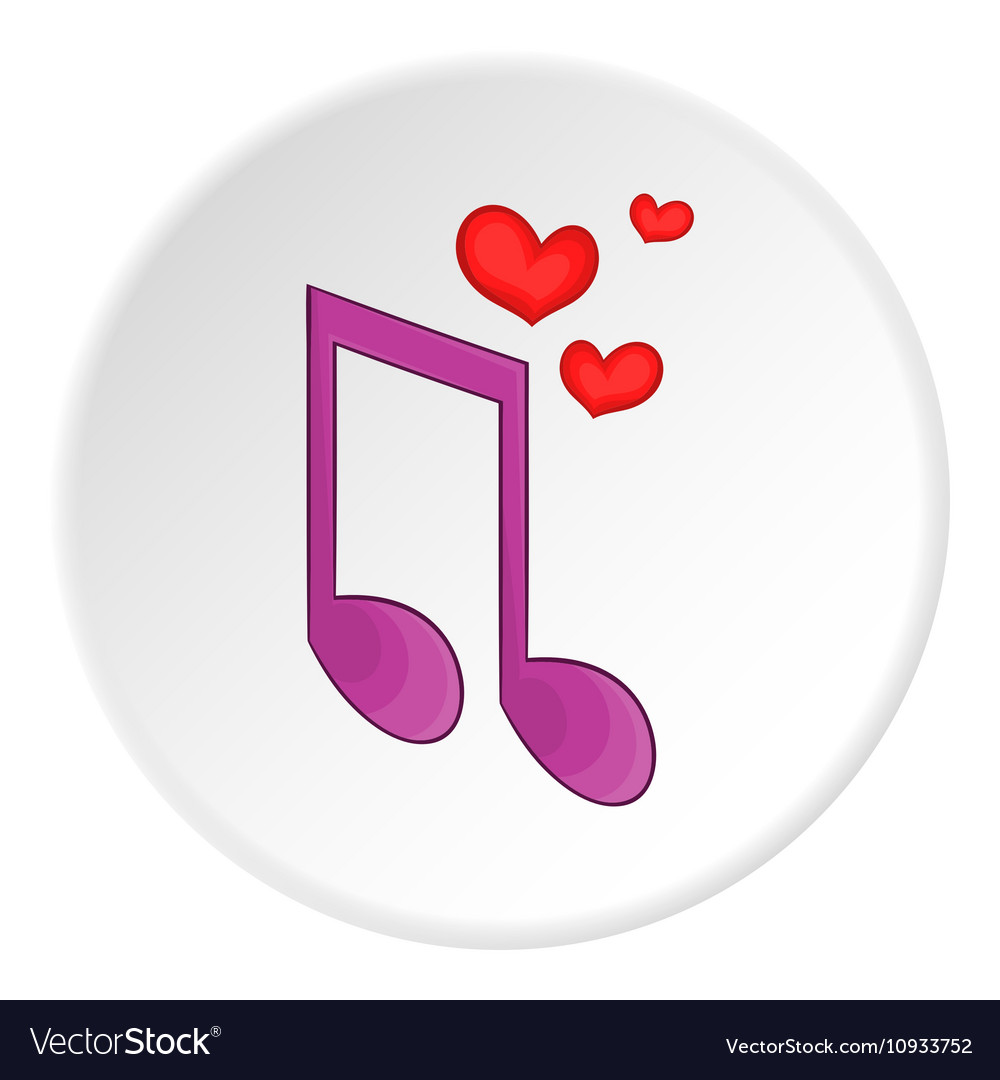 Love song icon cartoon style