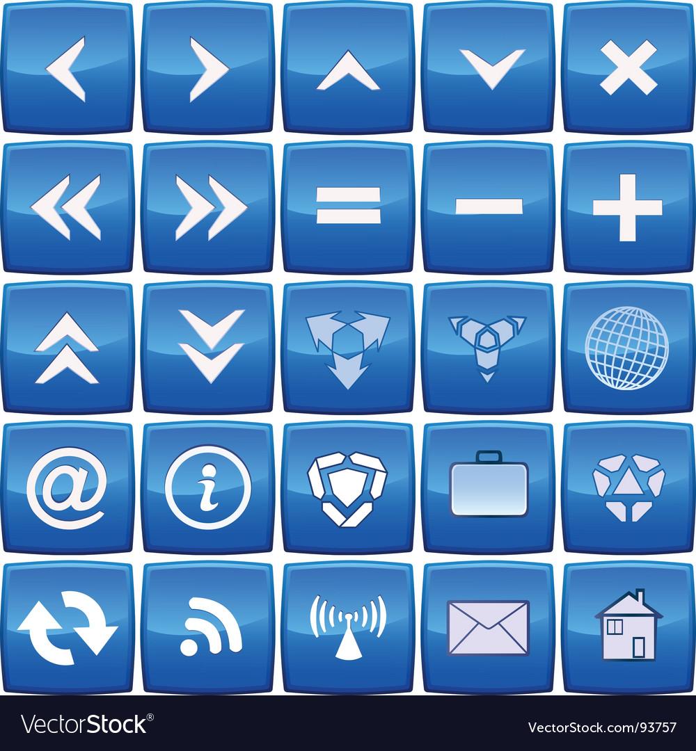 Aqua square buttons