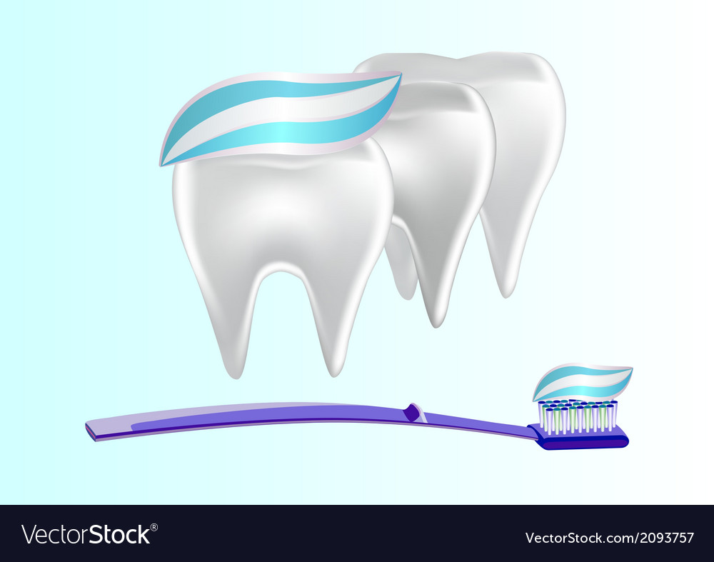 Banner toothpaste teeth