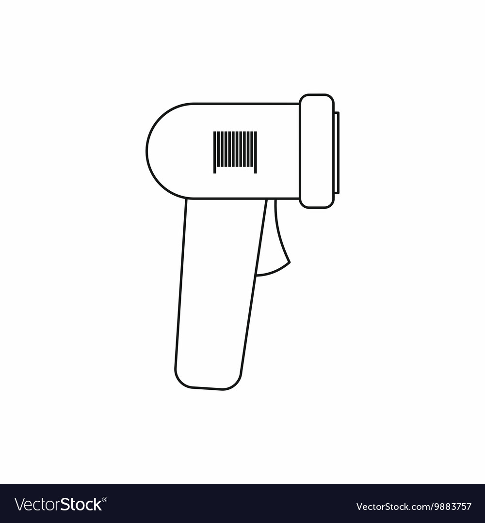 Barcode scanner icon outline style