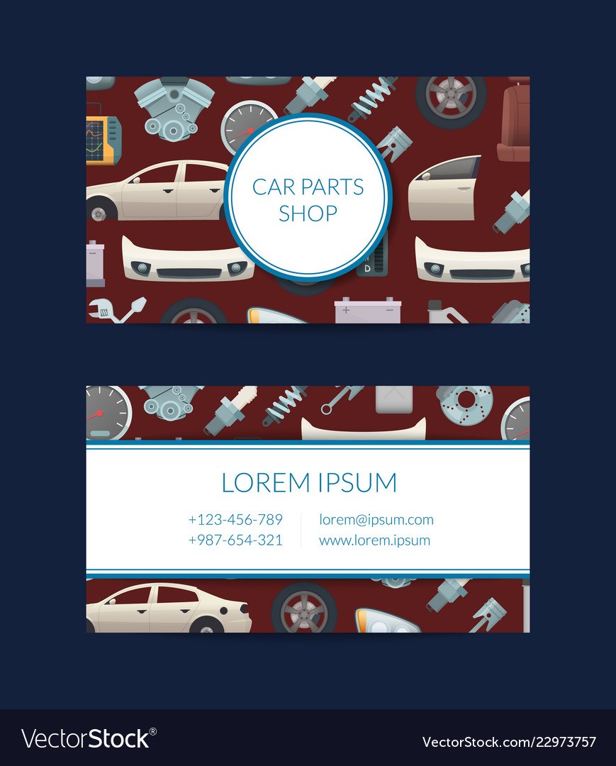 Car Parts Business Card Template