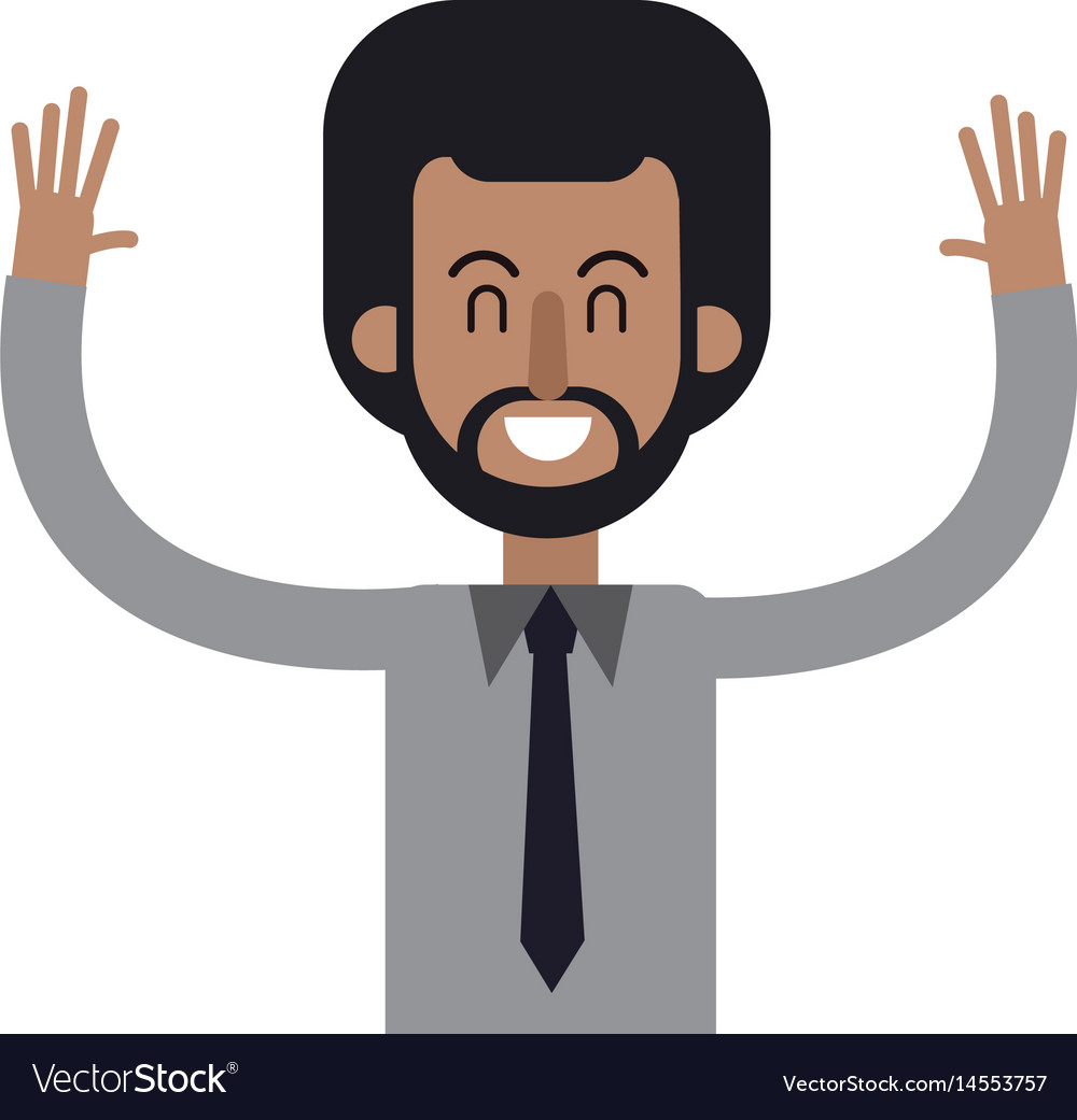 Character african man male hands up image