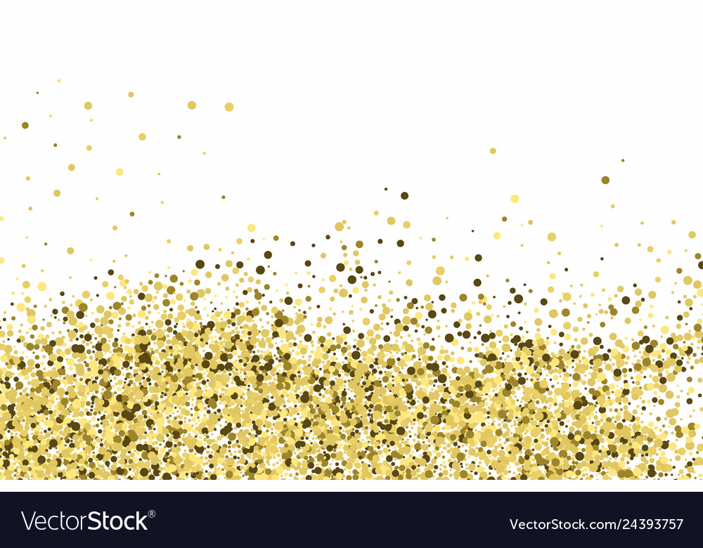 Gold glitter texture isolated on white amber