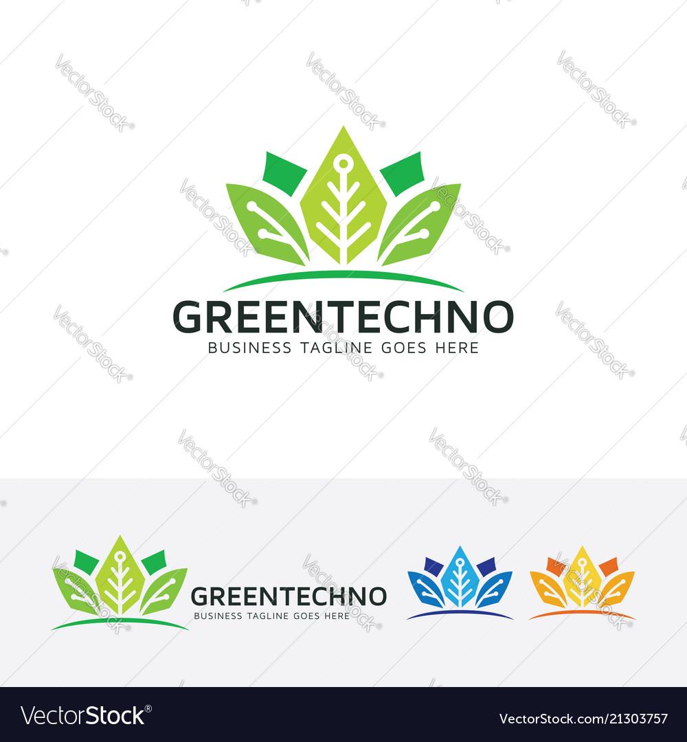 Green technology logo design