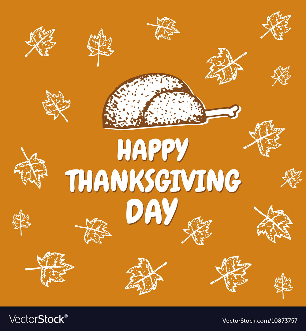 Happy Thanksgiving day greeting card vector image
