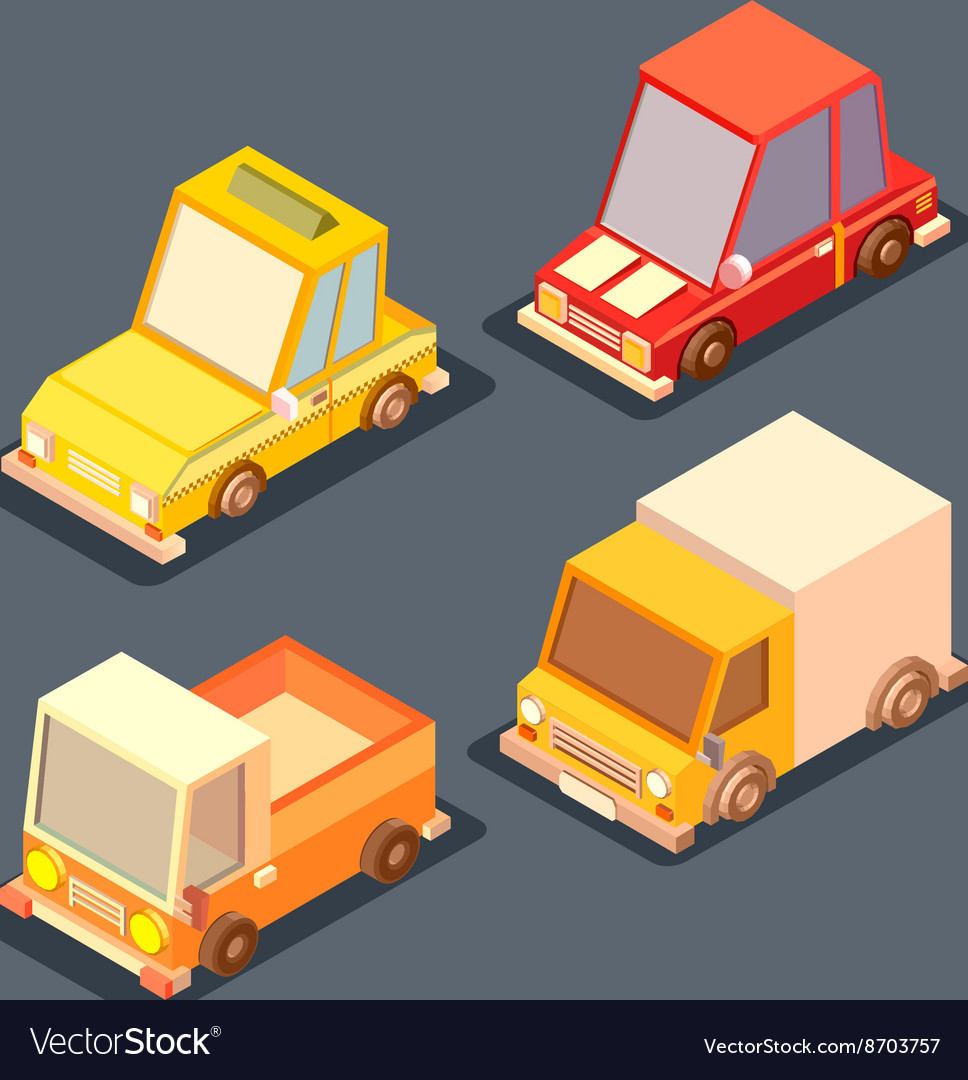Isometric transport 3D low poly