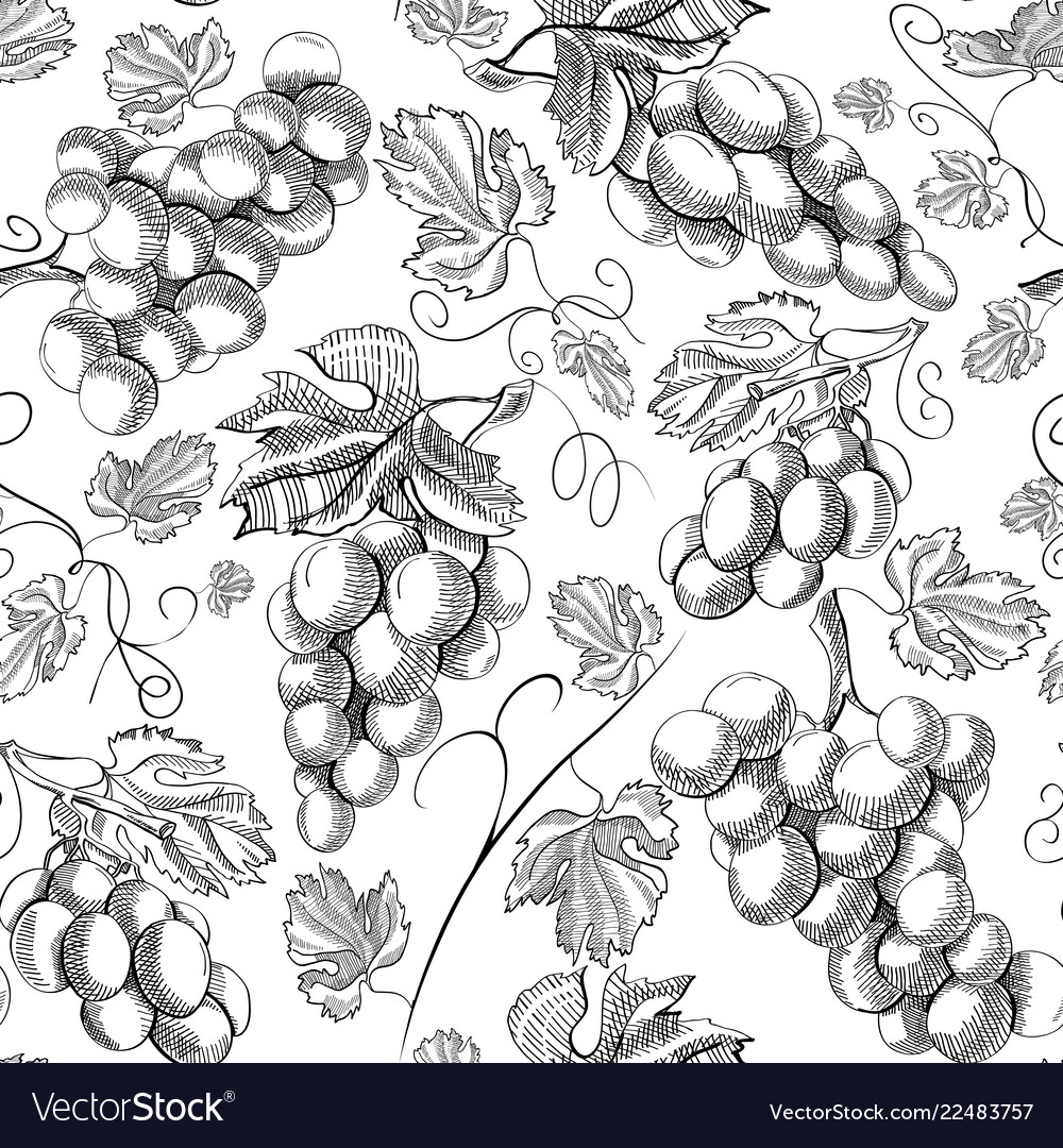Organic fresh seamless pattern