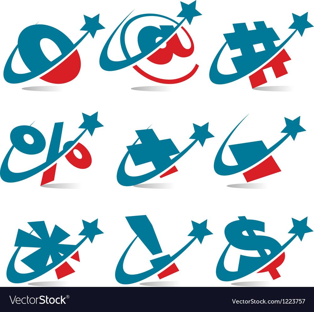 Swoosh Patriotic Logo Symbols Royalty Free Vector Image