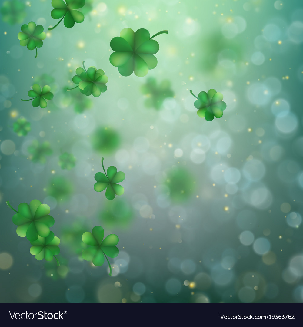 Abstract bokeh blur template with - trifolium