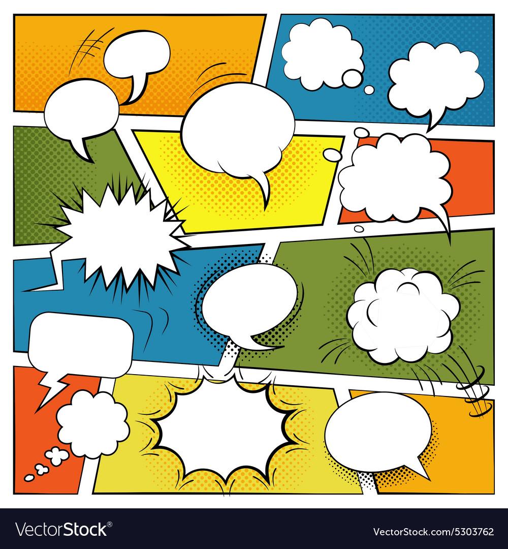 Blank Comic Bubbles Set vector image