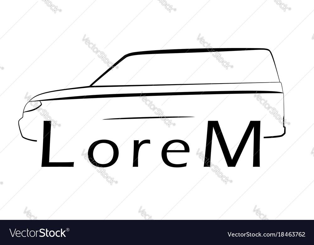 Car lines logo suv vector image