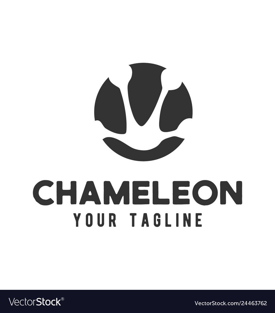 Chameleon footprints logo design