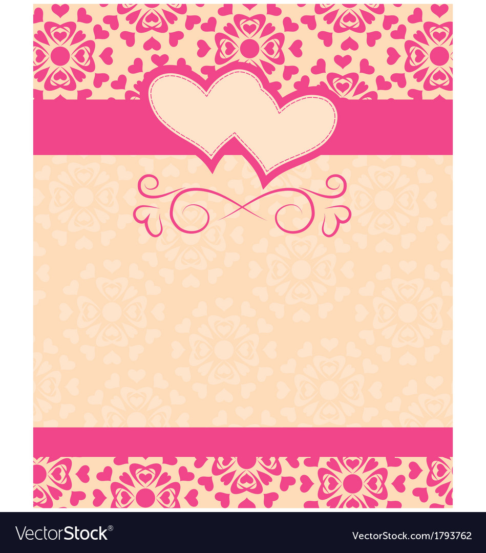 Greeting card happy valentines day and wedding day greeting card happy valentines day and wedding day vector image m4hsunfo