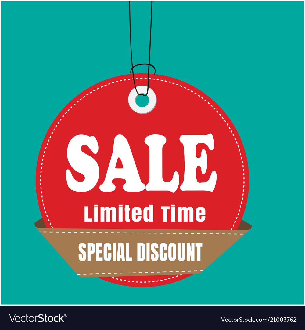 37fcdc70c Red tag sale sale limited time special discount ve vector image