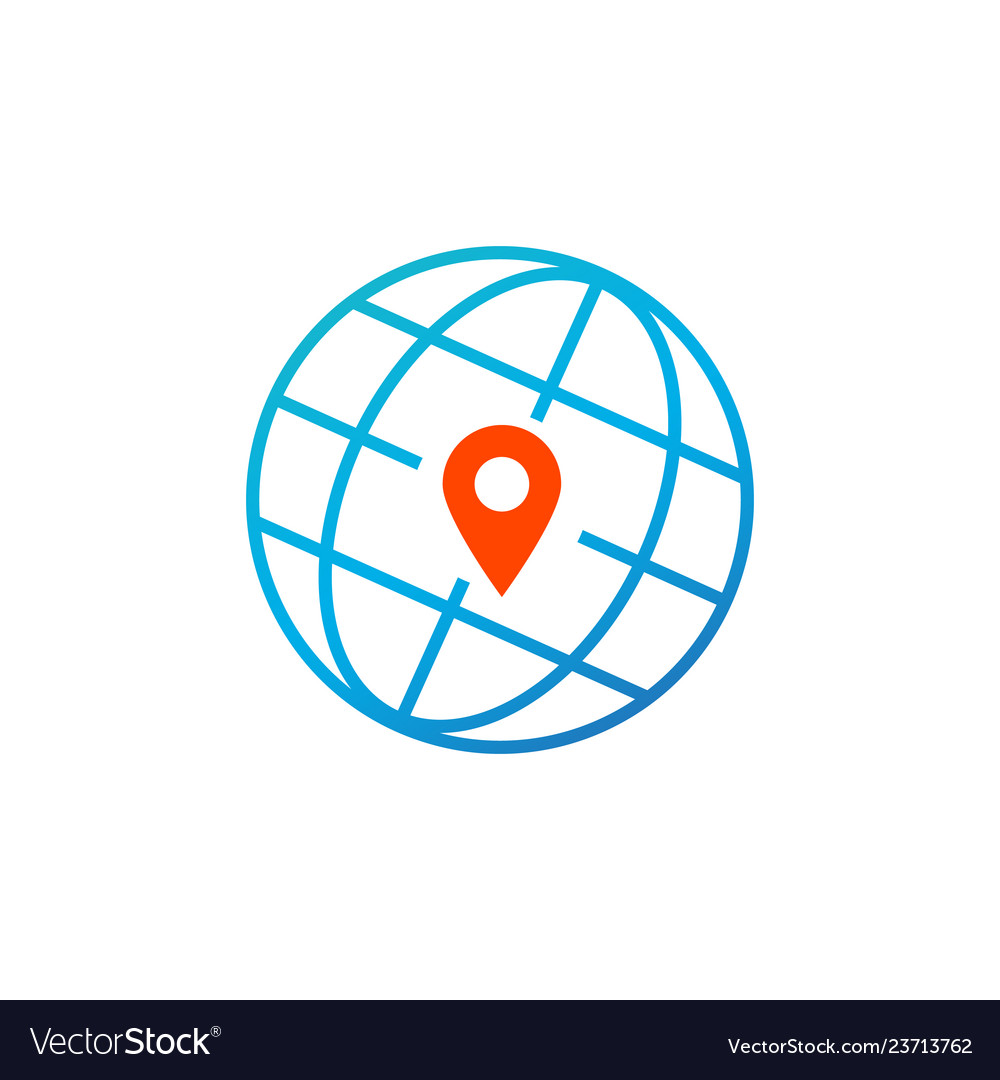 World global pointer map direction isolated on