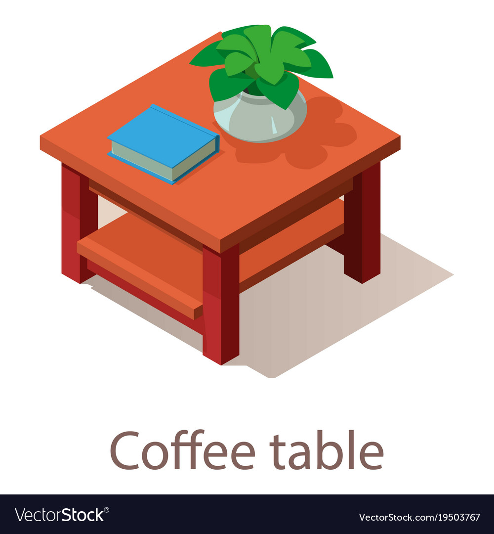 Phenomenal Coffee Table Icon Isometric Style Pabps2019 Chair Design Images Pabps2019Com