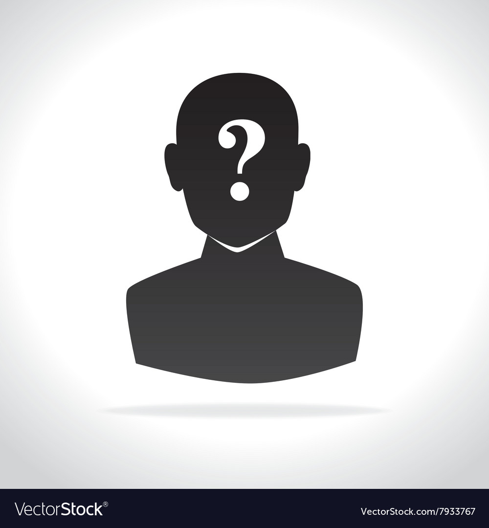 Confused person design vector image