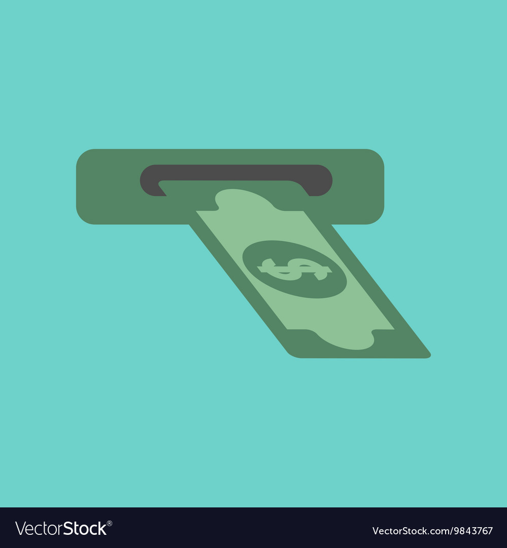 Flat icon on background dollar money