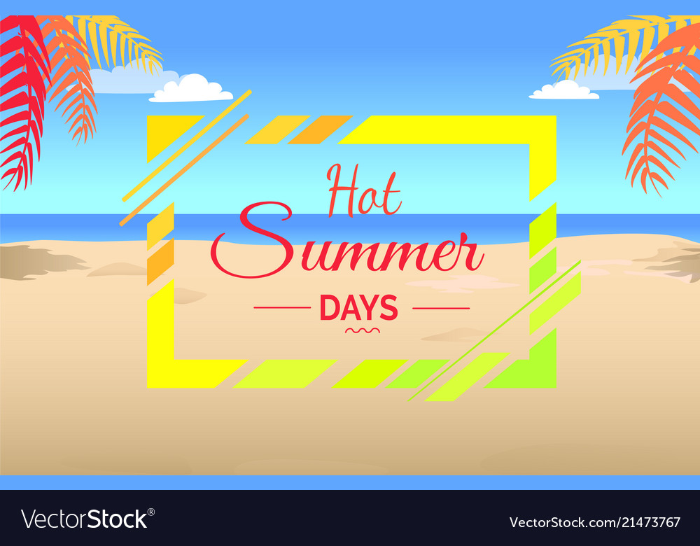 Hot summer days on tropical beach