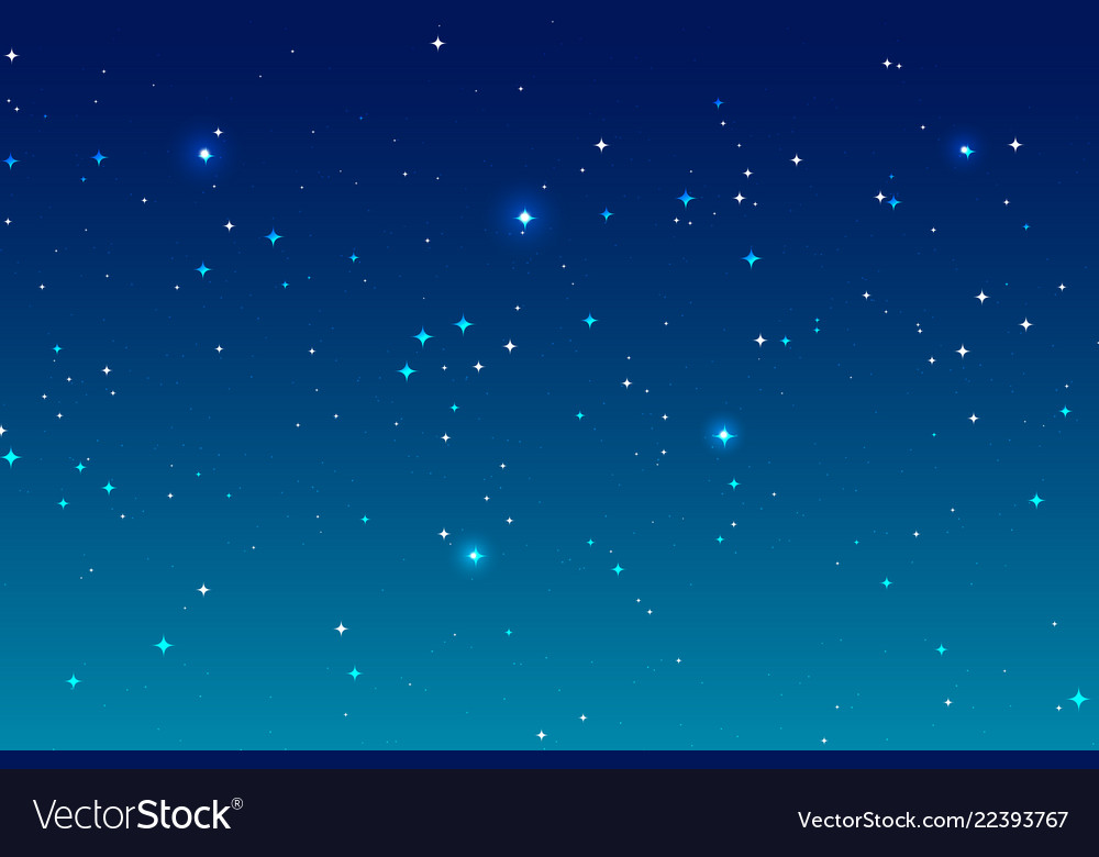 Sky night background and many stars blue deep