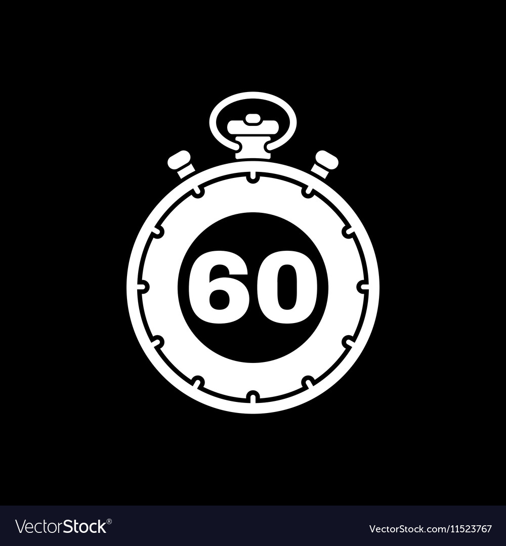 The 60 seconds minutes stopwatch icon Clock and