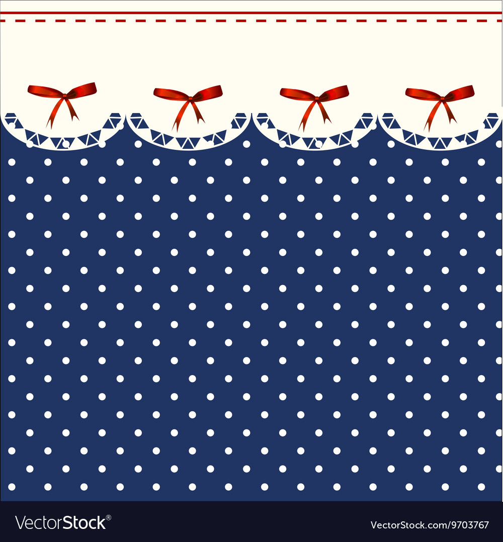 Vintage Blue Polka-dot Dress Printable Background vector image