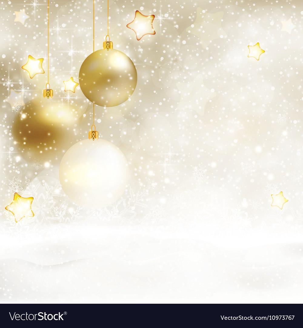 white golden winter christmas background vector image vectorstock