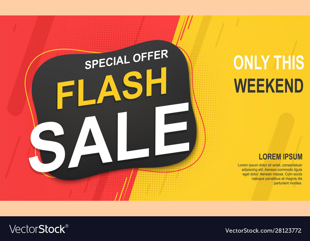 Flash sale banner template special offer for big