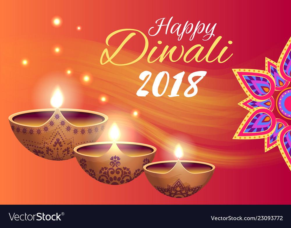 Happy diwali 2018 poster on