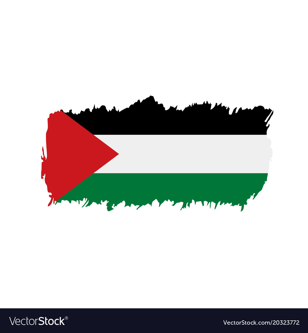 palestine flag royalty free vector image vectorstock